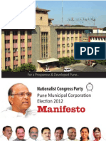 NCP Manifesto for  Pune Municipal Elections 2012