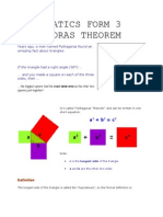 Mathematics Form 3(Phythagoras Theorem)
