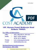 127 Studymat Cost Pcc-nov 2009