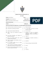 Examen Historia de Mexico II 3o Sec 3o Bim USB