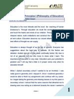 Fundamental Principles I (Philosophy of Education) - Edgar Nelton Gaspar