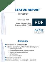 ASME Status Report