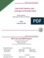 David E. Moncton- An X-Ray Laser at the Transform Limit