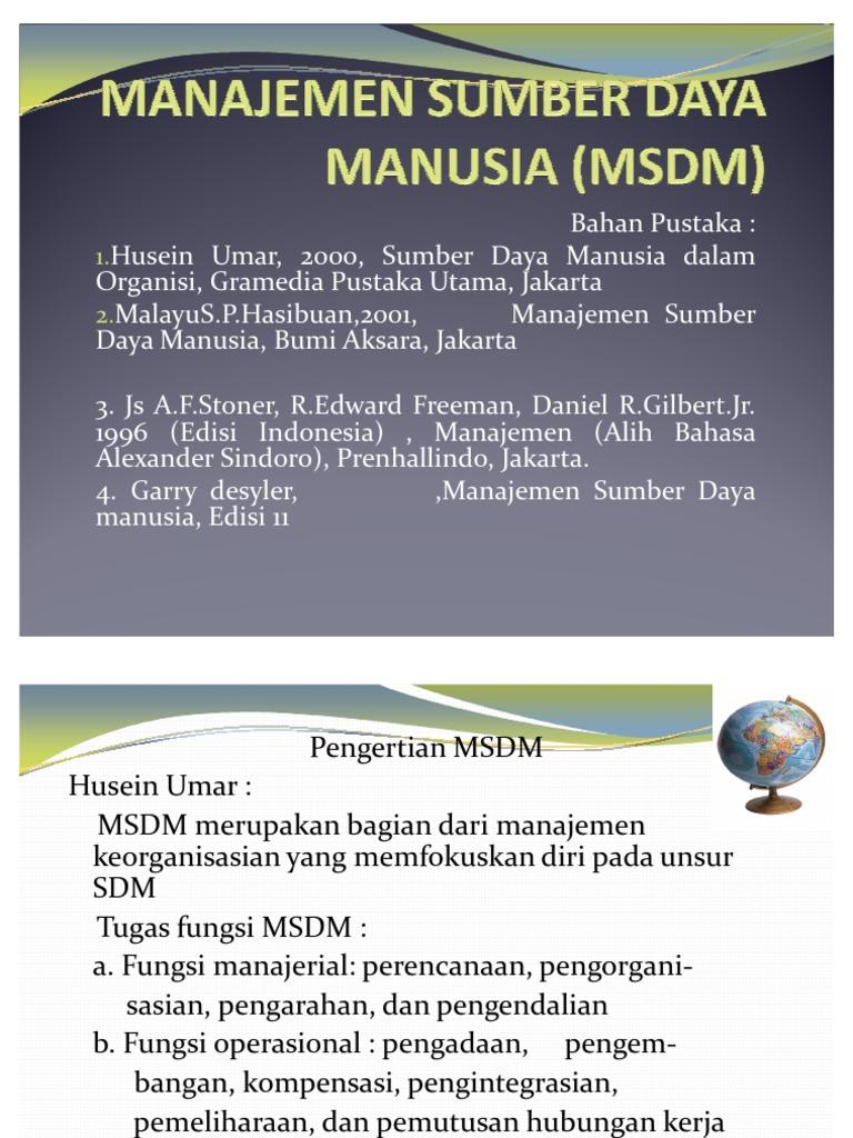 Buku Manajemen Sumber Daya Manusia Hasibuan Pdf