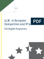 Full English Programme LLMBrochure