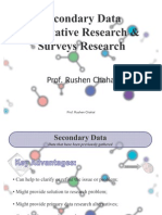 Marketing Research - Secondary Data, Qualitative Research & Surveys
