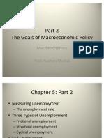 The Goals of Macro Economic Policy Part 2