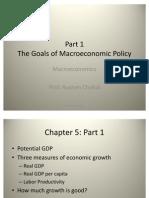 The Goals of Macro Economic Policy- Part 1