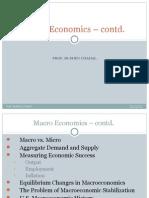 Macro Economics – continued