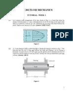 Cie 202 Fluid Mechanics-tute 1