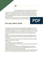 The Last Week in Life of Prophet (Pbuh)