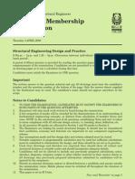 IStructE Chartered Membership Examination 2008