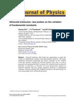 Cheng Chin, V V Flambaum and M G Kozlov- Ultracold molecules