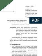 Surat Replik 07 Juni 2011