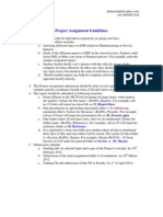 Project Assignment Guidelines