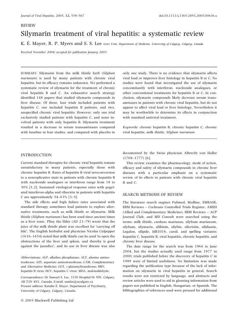 Medical abbreviations hcv - Silymarin Treatment Of Viral Hepatitis A Systematic Review Hepatitis Alanine Transaminase