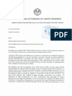 Sometimiiento Al Consejo Universitario Del Caso de La Tesis de Danilo Medina.