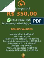 R$ 350,00 POR  TCC OU MONOGRAFIA WHATSAPP (21) 3942-6556   tccmonografia44@gmail.com