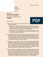 Surat Kpd KETUA DPC PPP SUMENEP, Penegasan Kembali Meminta Sepeda Motor (12 Mei 2011)