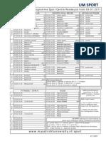 Timetable 2010-2011 Per Januari 2011 Super Final