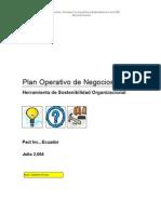 Plan Operativo de Negocios - Herramienta