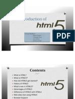 HTML 5 PPT