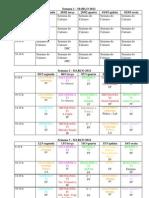 Grade horária - 1⁰ semestre