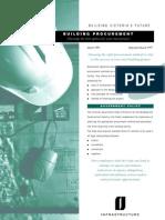 Types of Building Procurement