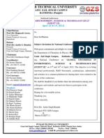 """National Conference on """"GLOBAL UPCOMINGS IN ENVIRONMENT, SCIENCE & TECHNOLOGY-2012 (GUEST'12)"""" on 13th and 14th of April, 2012 (Invitation Letter GUEST'12)"""
