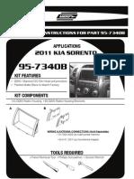 KIA Sorento 2011 Dash Removal