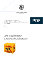 Arte contemporanea e modernismo architettonico