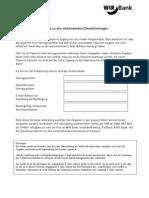 Internet-Banking - Entsperrung Des Zugangs Zu Den ElektronischenDienstleistungen Der WIR Bank