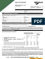 Internet-Banking - Vertrag Internet-Banking Mit Vollmacht (Juristische Personen, Gesellschaften Etc.)