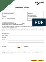 Stammanteile - Börsenauftrag (WIR Bank-intern) Stammanteile