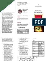 Brochure for EBC/Diode Pin Identifier