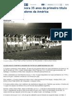 Cruzeiro comemora 35 anos do primeiro título da Copa Libertadores da América _ Cruzeiro_ Superesportes