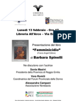 """Presentazione del libro """"Femminicidio"""" a Reggio Emilia, 13.02.2012"""