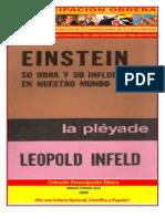 Libro No. 298. Einstein, Su obra y su influencia en el mundo de hoy . Infeld, Leopold. Colección Emancipación Obrera. Enero 21 de 2012