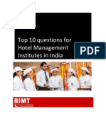 Top 10 Questions for Hotel Management Institutes