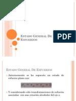 Diseño Mecanico- Estado General de Esfuerzos