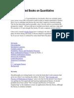 Mark Joshi - Reading List