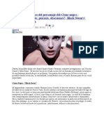 Analisis Psicologico Del Personaje Del Cisne Negro