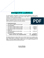 Finiquito Laboral (modelo)