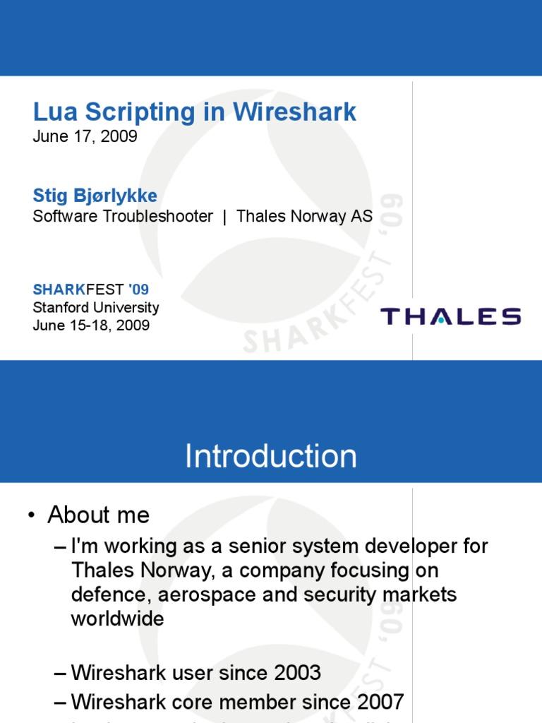 Lua Scripting in Wireshark | Scripting Language | Network Packet