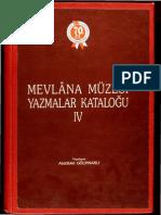 Mevlana Müzesi Yazmalar Katoloğu-4