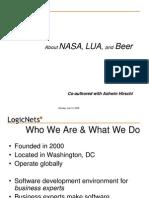 Nasa Lua Beer Presentation