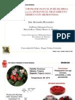 CAMBIOS CROMATICOS EN EL PURÉ DE FRESA  POR MICROONDAS