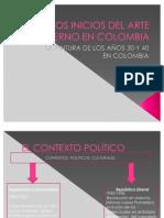 Los Inicios Del Arte Moderno en Colombia