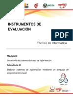 Instrumentos de Evaluacion Miii-siii