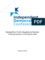 Independent Democratic Conference Regulation Report